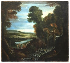 Landscape with Figures - Oil on Canvas - 1570 ca.