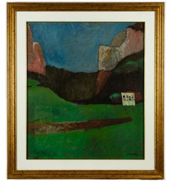 Mountains - Original Oil on Canvas by Mario Asnago - 1960s