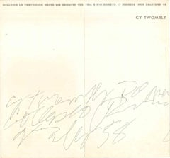 Cy Twombly exhibition leaflet