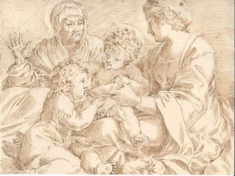 Annibale Carracci (after) Figurative Art - Madonna della Scodella