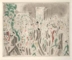 From Rues et Visages de Paris - 1920s - Drypoint/Etching - Modern