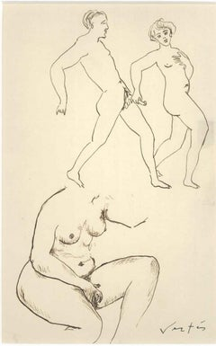 Erotic Drawing n. 6 - 1930s - Marcel Vertès - Ink - Modern