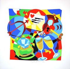 The Fair Hours  - 1990s - Ugo Nespolo - Chalcography - Contemporary