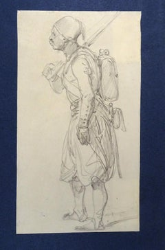 Un Zouave - 19th Century - Horace Vernet - Drawing - Old Master