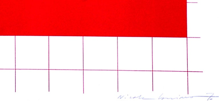Situation A - Original Lithograph by Nicola Carrino - 1970 ca. For Sale 3