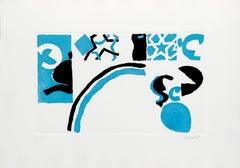 Abstract Composition - Original Etching by Antonio Scordia - 1980 ca.