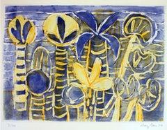 Ischia Gardens - Original Lithograph by Eduard Bargheer - 1977