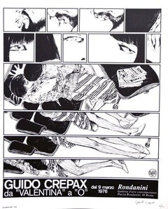 Guido Crepax - From Valentina to O - Original Offset Print - 1976