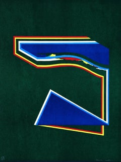 Geometric Figures - Original Lithograph by Paolo Cotani - 1970 ca.