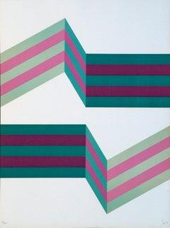 Perspective III - Original Lithograph by Renato Livi - 1971