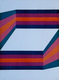 Perspective II - Original Lithograph by Renato Livi - 1971