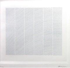 Lines - Original Etching by Giulia Napoleone - 1974