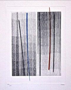 Lines - Original Etching by Guido Strazza - 1980 ca.