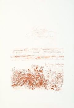 Sea Scape - Original Lithograph by Sandro Sanna - 1969