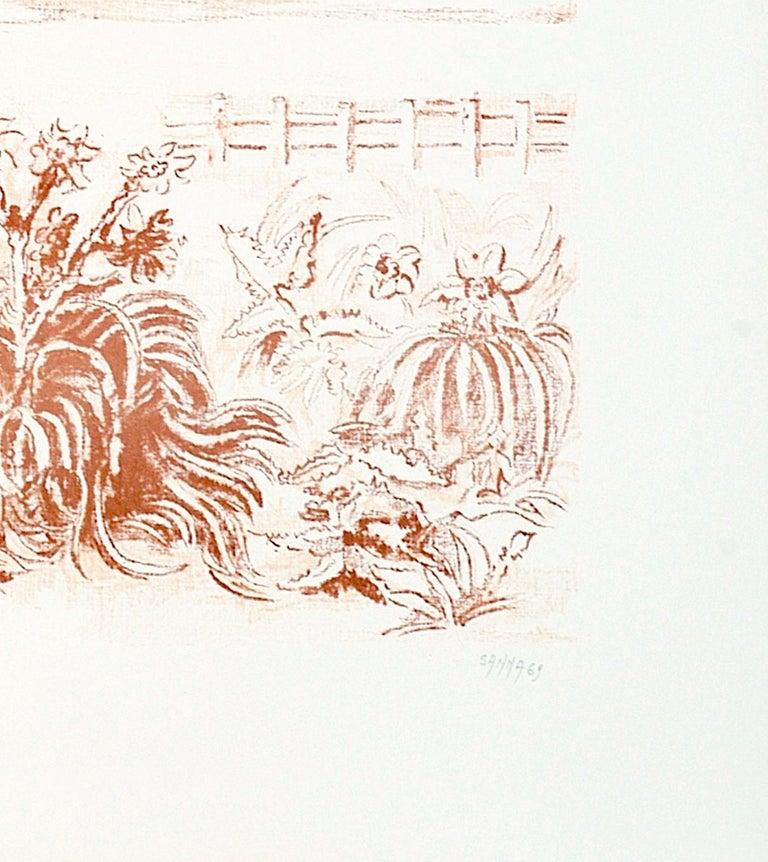 Sea Scape - Original Lithograph by Sandro Sanna - 1969 For Sale 1