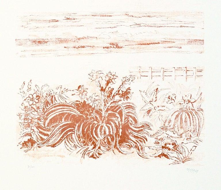 Sea Scape - Original Lithograph by Sandro Sanna - 1969 For Sale 2