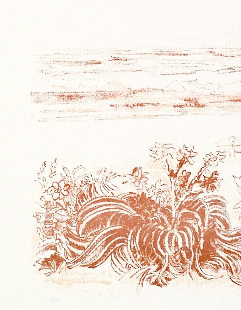 Sea Scape - Original Lithograph by Sandro Sanna - 1969 For Sale 3