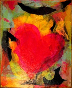 Heart - 2000s - Isabella Tirelli - Collage on Wood - Contemporary