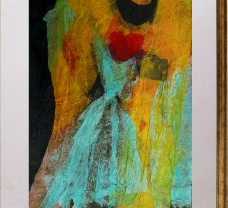Untitled, Blue Dress - 1990s - Isabella Tirelli - Collage on Paper For Sale 2
