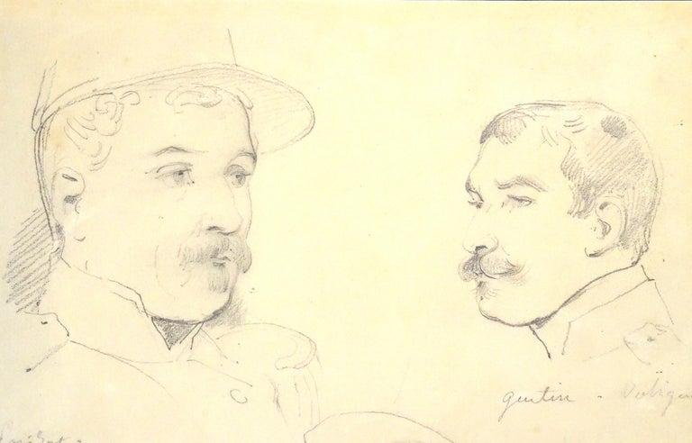 Le Soldats - Original Pencil Drawing by Horace Vernet - Art by Émile Jean-Horace Vernet