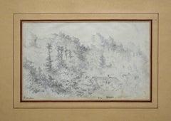 Arques - Original Pencil Drawing by Paul Louis Aleandre Wallet