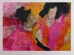 Sisters - Original Mixed Media by Isabella Tirelli - 1998