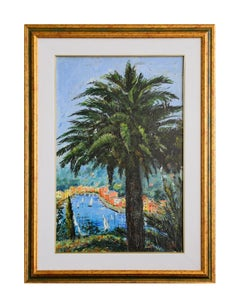 View of Portofino - Original Oil on Canvas by Luciano Sacco