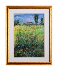 Toward the Village - Original Oil on Canvas by Luciano Sacco