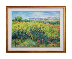 Genistas and Poppys - Original Oil on Canvas by Luciano Sacco