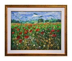 Tuscan Landscape - Original Oil on Canvas by Luciano Sacco