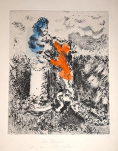 Le Renard et Le Buste  - Original Etching by Marc Chagall - 1927-30