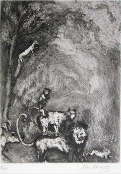 Le Lion s'en Allant en Guerre - Original Etching by Marc Chagall - 1927-30