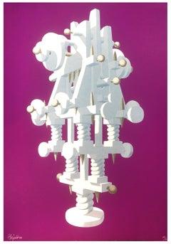 Totem Machine - Original Silkscreen by Ramon Alejandro