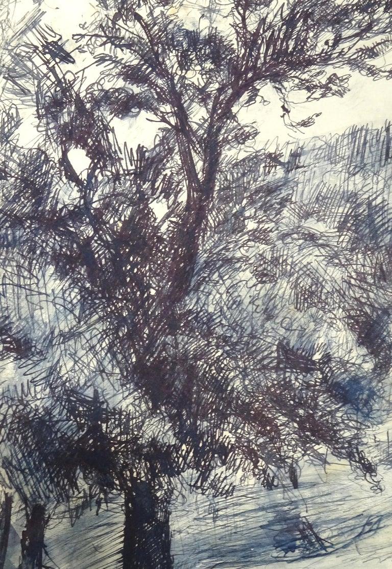 Wood - Original Pastel and China Ink on Paper by J.L. Rey-Vila - Art by José Luis Rey Vila