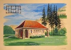 Project For A Villa - 20th Century - Emile Deschler - Tempera - Modern