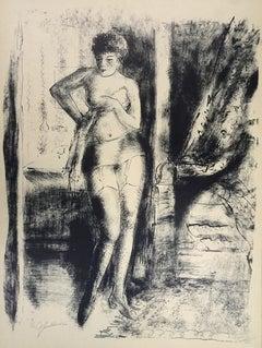 Nude - Original Lithograph by Nicolas Gloutchenko  - 1920s