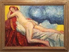La Dea Io - Oil on Canvas by Antonio Feltrinelli - 1930