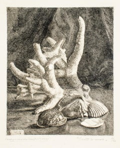 Seafood - Original Etching by Leonardo Castellani - 1943