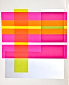 Composition - Original Screen Print by Franco Cannilla - 1971