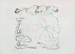 Embrace - Original Lithograph by Anna Trapani - 1989