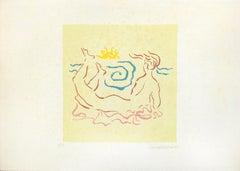 The Horizon - Original Lithograph by Anna Trapani - 1987