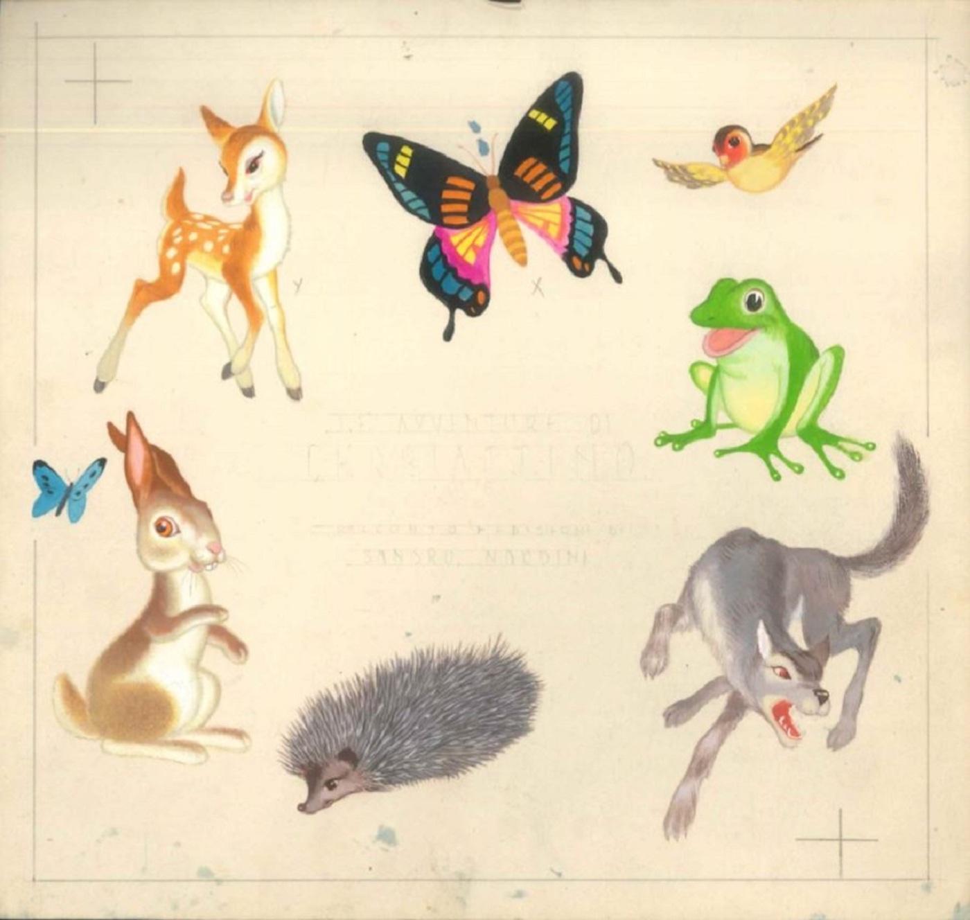 Le Avventure di Cerbiattino - Original Illustrated tale by Sandro Nardini - 1940