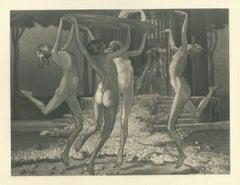 Schwestern der Salome - Vintage Héliogravure by Franz von Bayros - 1921 ca.