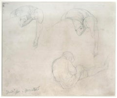 Fishermen Study - 19th Cent. - N. Costa - Drawing - Modern