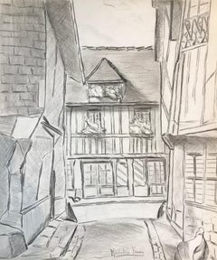 The Village - Original Pencil Drawing on Paper by M. Frouin