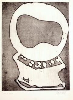 Skull - 20th Century - Sante Monachesi - Etching - 1970 ca.