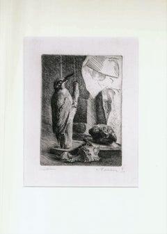 The Woodpecker - Original Etching by Leonardo Castellani - 1934