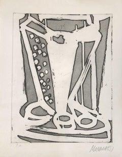 Untitled - 20th Century - Sante Monachesi - Etching - 1970 ca.