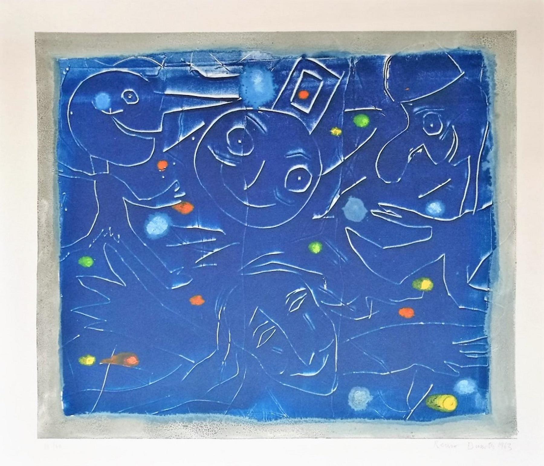 Joy - Original Lithograph by Renzo Bussotti - 1963