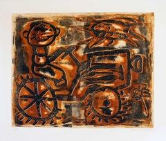 Farmer - Original Lithograph by Renzo Bussotti - 1963